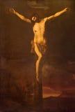 Granada - The Crucifixion in side chapel of church Iglesia de los santos Justo y Pastor Royalty Free Stock Photos