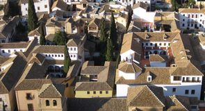Granada-Dachspitzen Stockbilder