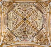 Granada - de renaissancekoepel van kerk Monasterio DE San Jeronimo Royalty-vrije Stock Foto's