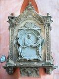 Granada - den minnes- lättnaden av teologen (metaphysician) och jesuit FranciscoSuarez (1548-1617) på fasad av Palacio Arzob Royaltyfri Foto