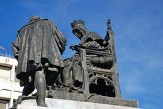 Granada-Denkmal für Königin Isabella und Columbus Lizenzfreies Stockbild