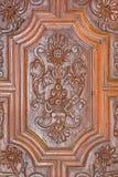 Granada - detail of carved baroque door of Basilica San Juan de Dios. Granada - The detail of carved baroque door of Basilica San Juan de Dios Royalty Free Stock Images