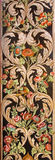 Granada - The detail of decorative floral fresco presbytery of church Monasterio de la Cartuja. Royalty Free Stock Photo