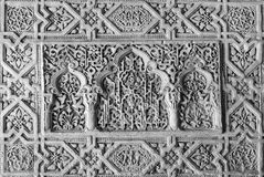 Granada - The detail of mudejar stucco in Nasrid palace in Alhambra Royalty Free Stock Images
