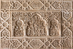 Granada - The detail of mudejar stucco in Nasrid palace. Stock Photography