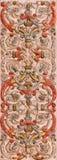 Granada - detaljen av stuckaturen från skepp av kyrkliga Monasterio de la Cartuja Royaltyfria Bilder