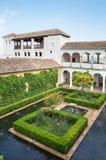 Granada - die gardnes und der Generalife-Palast in Alhambra-cmomplex Stockfoto