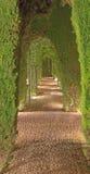 Granada - die Generalife-Gärten von Alhambra-Palast Lizenzfreies Stockfoto