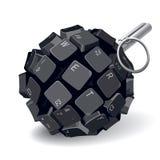 Granada do teclado Imagem de Stock Royalty Free