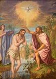 Granada - Doopsel van het schilderen van Christus in hoofdschip van kerk Monasterio DE La Cartuja door Strijd Juan Sanchez Cotan  stock foto's