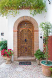 Granada - The door of house in mudejar style. Royalty Free Stock Images