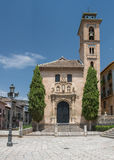 Granada, Espanha - Santa Ana Church imagens de stock royalty free