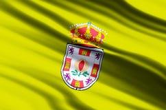 Granada-Flaggenillustration stock abbildung