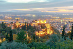 Granada. The fortress and palace complex Alhambra. Royalty Free Stock Photo