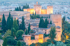 Granada. The fortress and palace complex Alhambra. Stock Image