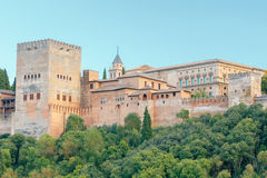 Granada. The fortress and palace complex Alhambra. Stock Photography