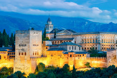 Granada. The fortress and palace complex Alhambra. Royalty Free Stock Images