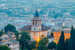 Granada. The fortress and palace complex Alhambra. Royalty Free Stock Photos