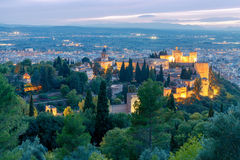 Granada. The fortress and palace complex Alhambra. Royalty Free Stock Image