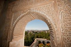 Granada från Alhambraen Arkivbild