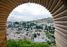 Granada framed Royalty Free Stock Image