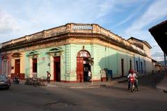 Granada gata i Nicaragua Arkivbilder
