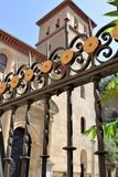 Granada great historic city of Spain-Andalusia, Old Town. Beautiful bars and church background Stock Photography