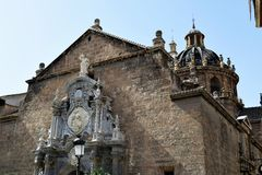 Granada great historic city of Spain-Andalusia, Old Town. Beautiful church Parraquia de Santos Justo y Pastor Stock Photography