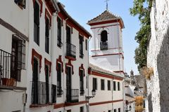 Granada great historic city of Spain-Andalusia, Old Town. Beautiful view on church-Plaza San Gregorio Royalty Free Stock Photography