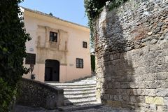 Granada great historic city of Spain-Andalusia, Old Town. Casa de Porras, charming building with beautiful portal Royalty Free Stock Photo