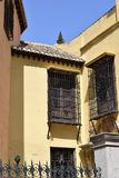 Granada great historic city of Spain-Andalusia, Old Town. Charming building with beautiful windows bars Stock Photography