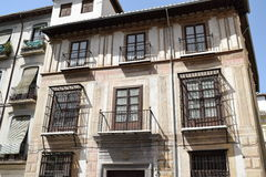 Granada great historic city of Spain-Andalusia, Old Town. Charming, old buildings with unusual window bars Stock Images