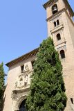 Granada great historic city of Spain-Andalusia, Old Town. Old church Stock Photography