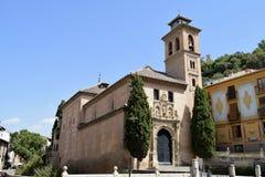 Granada great historic city of Spain-Andalusia, Old Town. Church Iglesia de San Gil Y Santa Ana Stock Photography