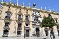 Granada great historic city of Spain-Andalusia, Old Town. Splendid building Tribunal Superior de Justicja de Andalucia Royalty Free Stock Images