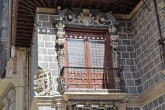 Granada great historic city of Spain-Andalusia, Old Town. Splendid decorated balcony window Stock Photo