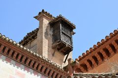 Granada great historic city of Spain-Andalusia, Old Town. Unusual old window and balcony on the church Stock Photos