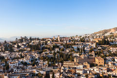 Granada. Gypsy Hill (Sacromonte),  the famous suburb of Granada in Andalucia in Spain Stock Images