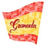 Granada hand lettering royalty free illustration