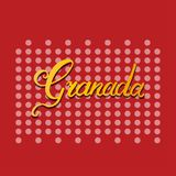 Granada hand lettering Royalty Free Stock Photography