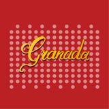 Granada-Handbeschriftung lizenzfreie abbildung