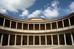 Granada, Carlo V Palace, Alhambra, Spain Royalty-vrije Stock Foto's