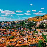 Granada Hillside Stock Photo