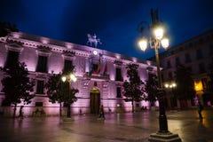 Granada historic center at night royalty free stock image