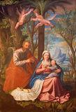 Granada - The Holy Family painting in main nave of church Monasterio de la Cartuja  by Fray Juan Sanchez Cotan (1560 - 1627). Royalty Free Stock Photography