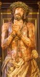 Granada - Jesus Christ torturado na estátua bond no pastor de Iglesia de los Santos Justo y da igreja Imagem de Stock