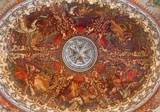 Granada - la cúpula de la sacristía en la iglesia Monasterio de la Cartuja Fotos de archivo