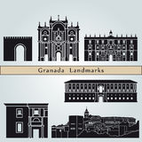 Granada landmarks and monuments Royalty Free Stock Images