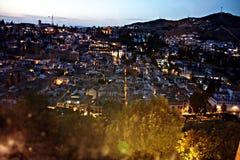 Granada na noite 1 Imagens de Stock
