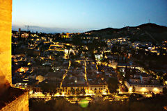 Granada na noite 2 Imagens de Stock